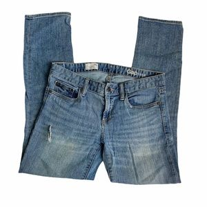 Gap 1969 Real Straight Distressed Jeans